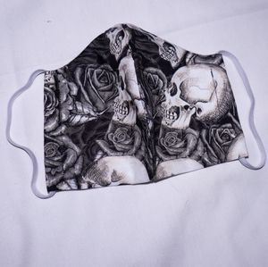 Skull and Roses Facemask